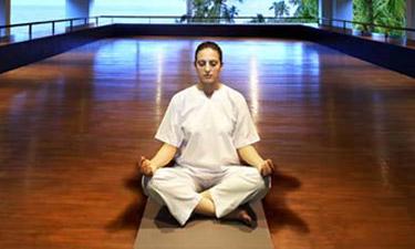 Leela Kovalam Beach Yoga